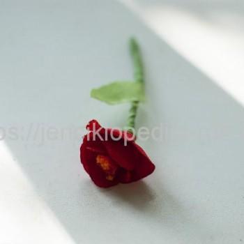 Роза простая из ткани