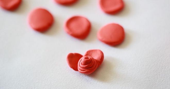 лепка лепестков розы