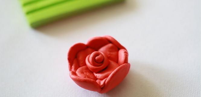 лепка розы