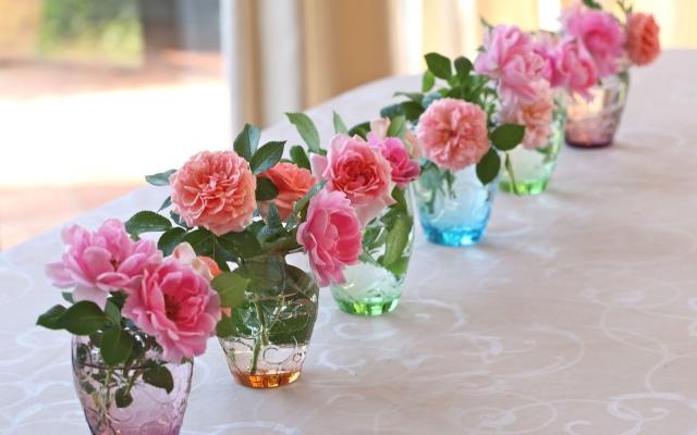 розы из букета